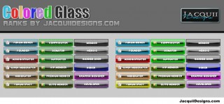 1 RANKS colored glass
